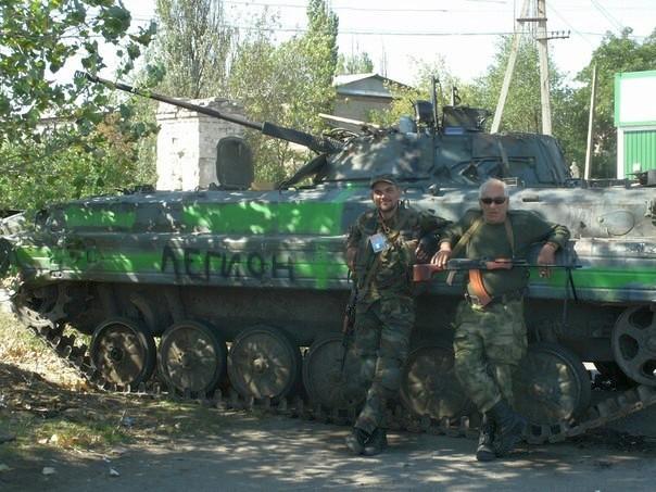 Захваченная повстанцами украинская