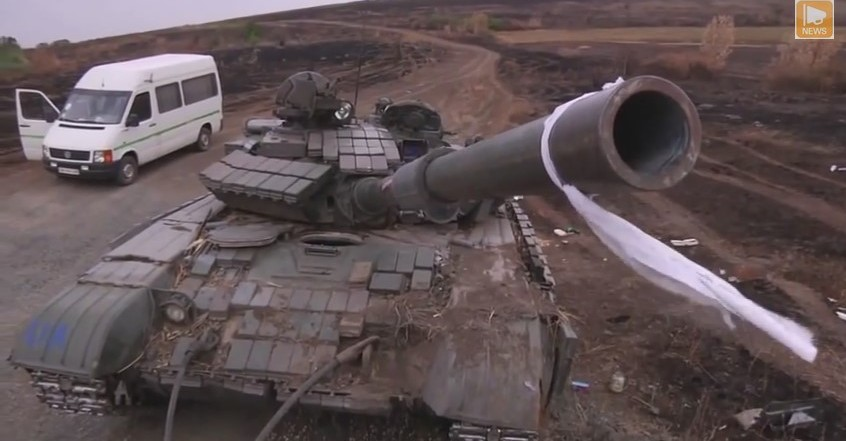 Захваченный украинский танк т 64бв под