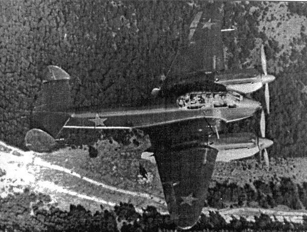 Russian short-range bomber Yak-2 (BB-21)