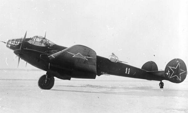 Soviet WWII photo long-range bomber Yer-2