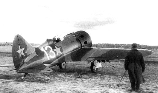 photo WWII I16 pursuit monoplane USSR
