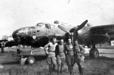 LendLeased B-25 bomber in 1945 picture
