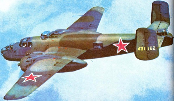Lendleased B25j bomber in Soviet Union.