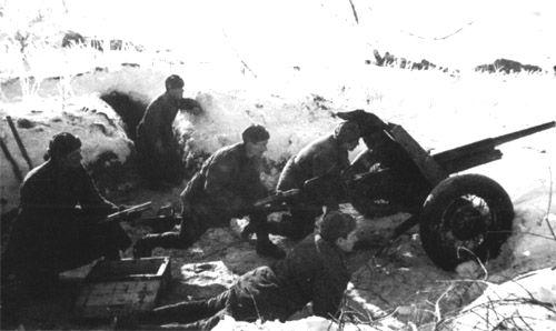 Image result for ww2 russia 45mm artillery gun