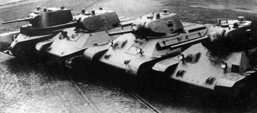 tanks BT-7, A-20, T-34 with L-11 gun (model 1940), T-34 with F-34 gun (model 1941)