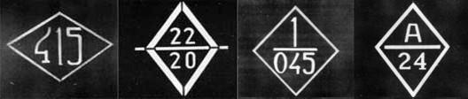 ромб - штабной знак бронетанковых частей РККА форма унаследована от ромбического профиля первых английских танков