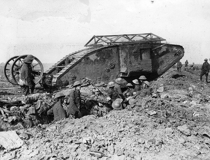 WWI: first armor in combat